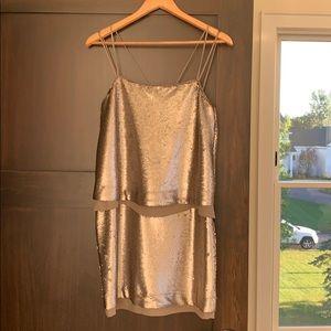 Banana republic Silk sequin dress NWT